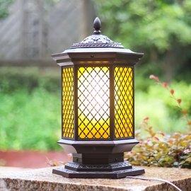 防水柱頭燈門柱燈端景臺燈室外燈門頭燈飾花園別墅戶外燈庭院燈圖片