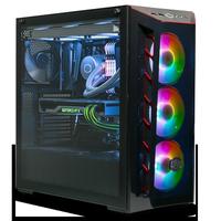 酷冷至尊MB520/501台式电脑机箱 中塔钢化玻璃侧透ATX游戏主机箱