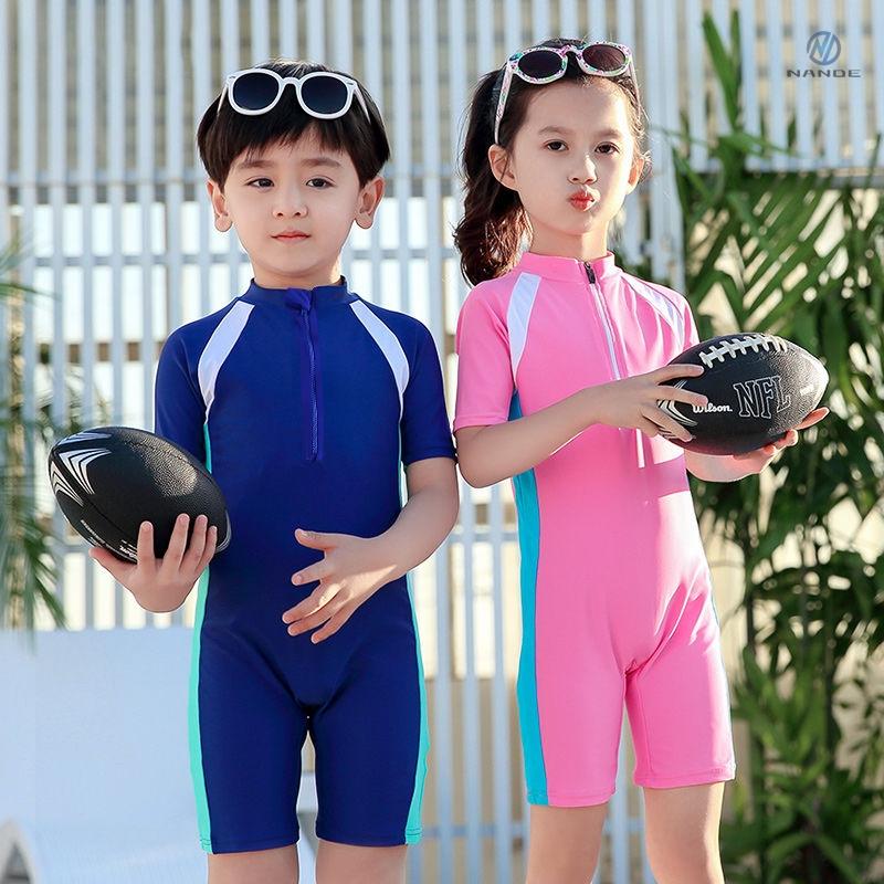 中國代購 中國批發-ibuy99 泳装 儿童泳衣男童连体小中大童游泳衣宝宝婴幼防晒潜水服套装游泳装备