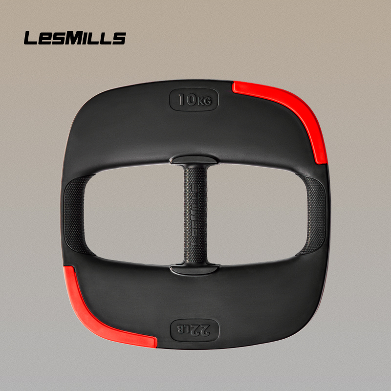 Lesmills Laimei barbell piece 5kg / 7.5kg/10kg plastic wrapping professional home gym hand grip barbell piece