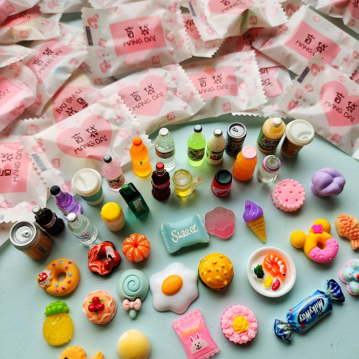 包邮盲袋超市食玩酒瓶可乐饮料瓶迷你食物微缩模型蛋糕套餐小玩具