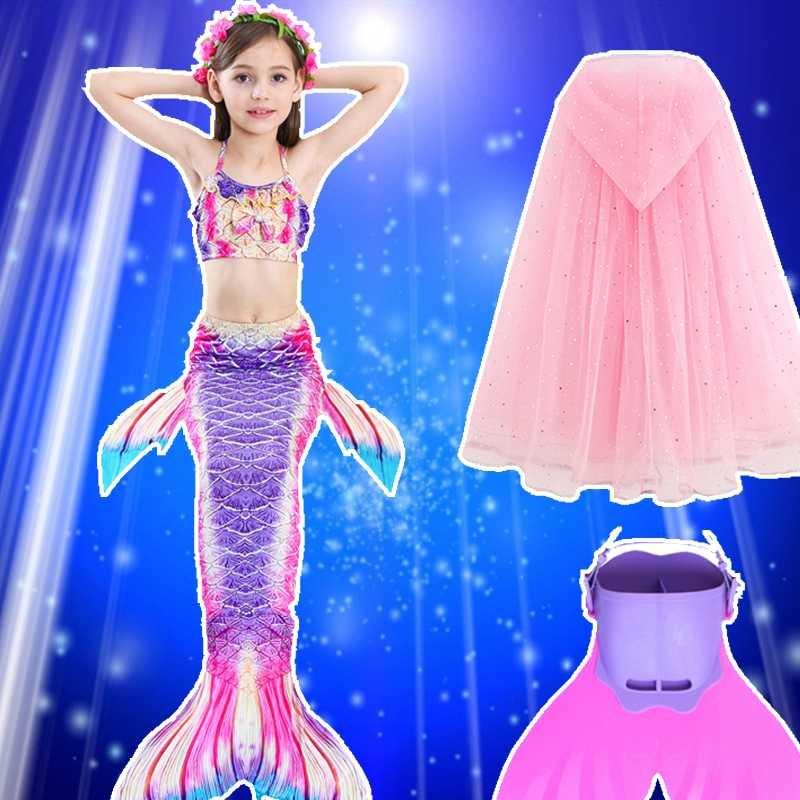 Mermaid clothes girl Mermaid tail Mermaid tail childrens Princess suit bathing suit hot spring