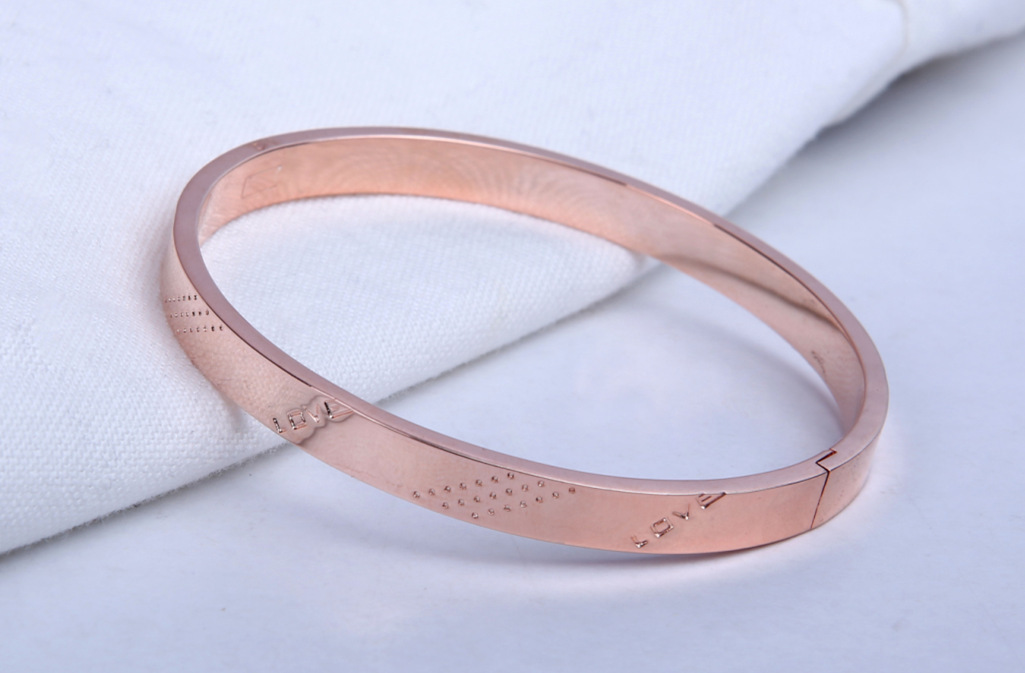 Youyun Korean jewelry plated with 18k rose color gold eternal ring fashion lovers Bracelet hand accessories manufacturer