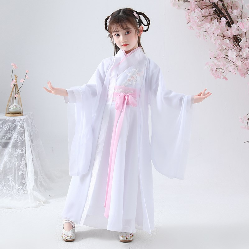 Princess Dress Han dress girl gauze dress show queen girl ancient childrens fairy sword and chivalrous ancient costume of Tang Dynasty