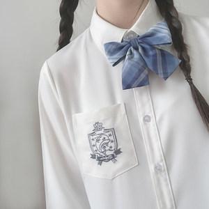【初町野】原创刺绣基础款jk长袖衬衫