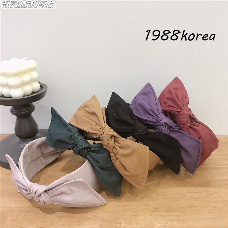 Tuoxiu South Korea imported wide side net red ins wind pressure hair band band movable big bow knot versatile personality