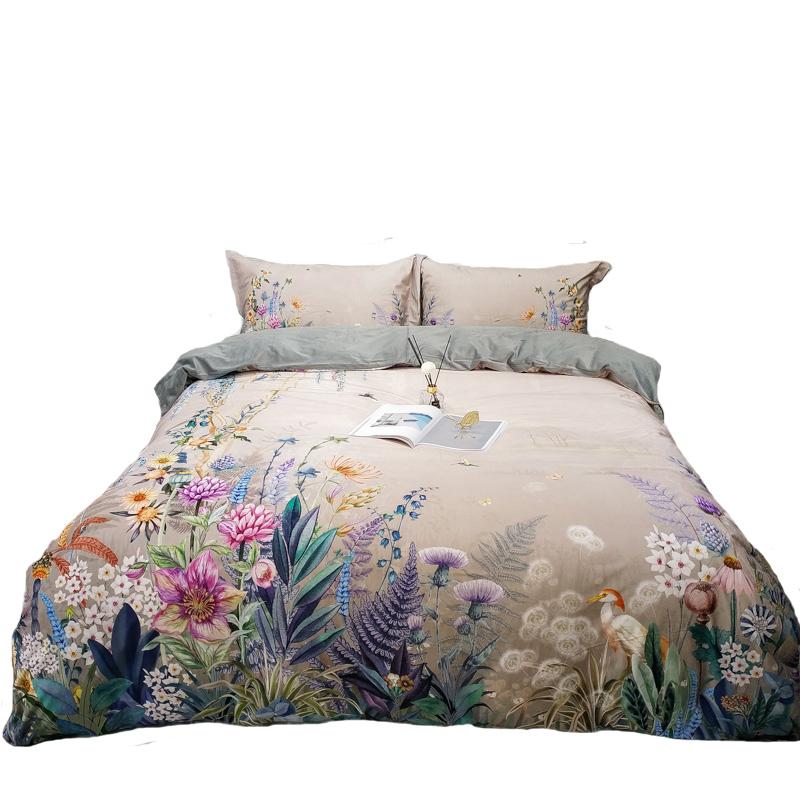 高档秋冬宝宝绒保暖四件套美式被套床单3D数码印花床上用品1.5m/