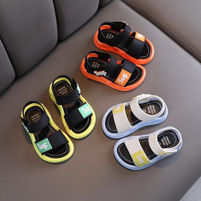 男童凉鞋2021新款中大童韩版女童宝宝鞋子儿童软底鞋学生沙滩凉鞋