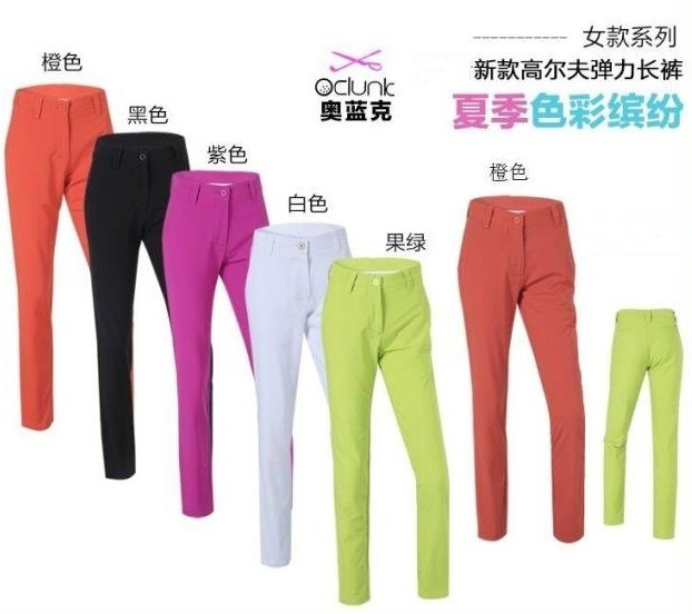 Clothing womens spring and summer new pants golf ball pants outdoor sports womens pants show thin elasticity
