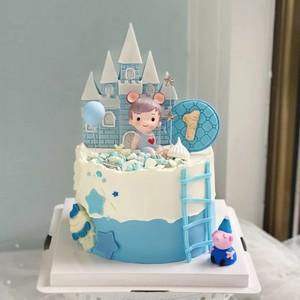 圣诞节冰雪大城堡翻糖模具硅胶小王子小公主满月生日烘焙甜品插件