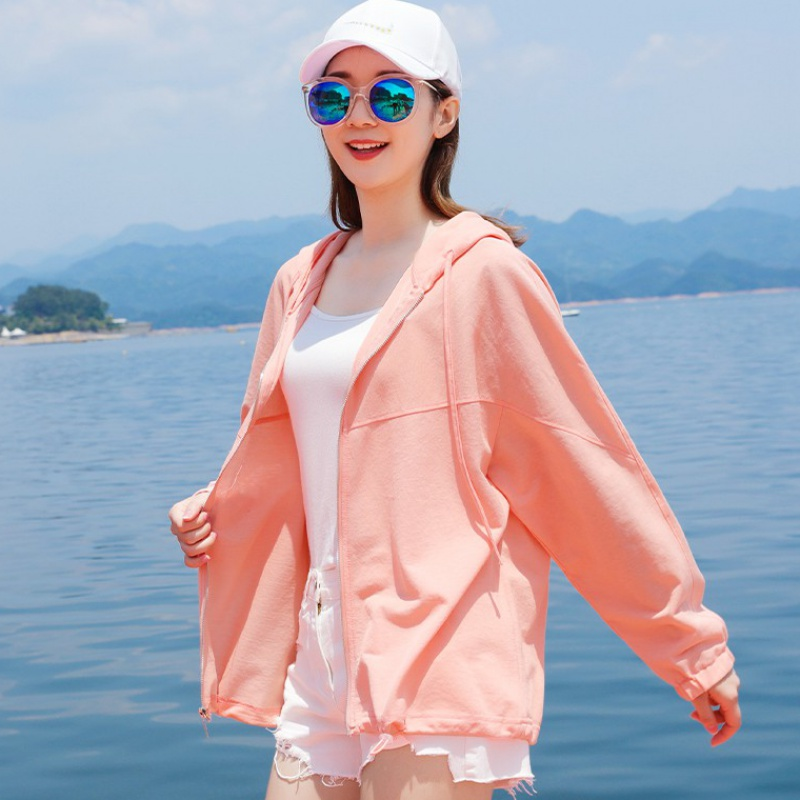 All cotton womens long sleeve 2020 summer new Korean version breathable all-around lightweight coat foreign style clothes