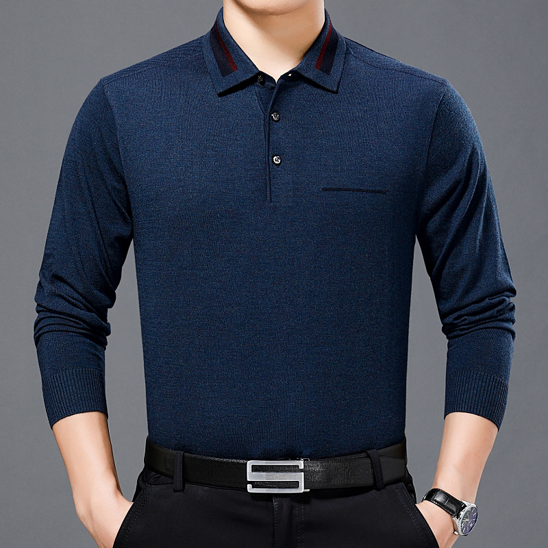 Mens polo shirt for middle-aged and old people