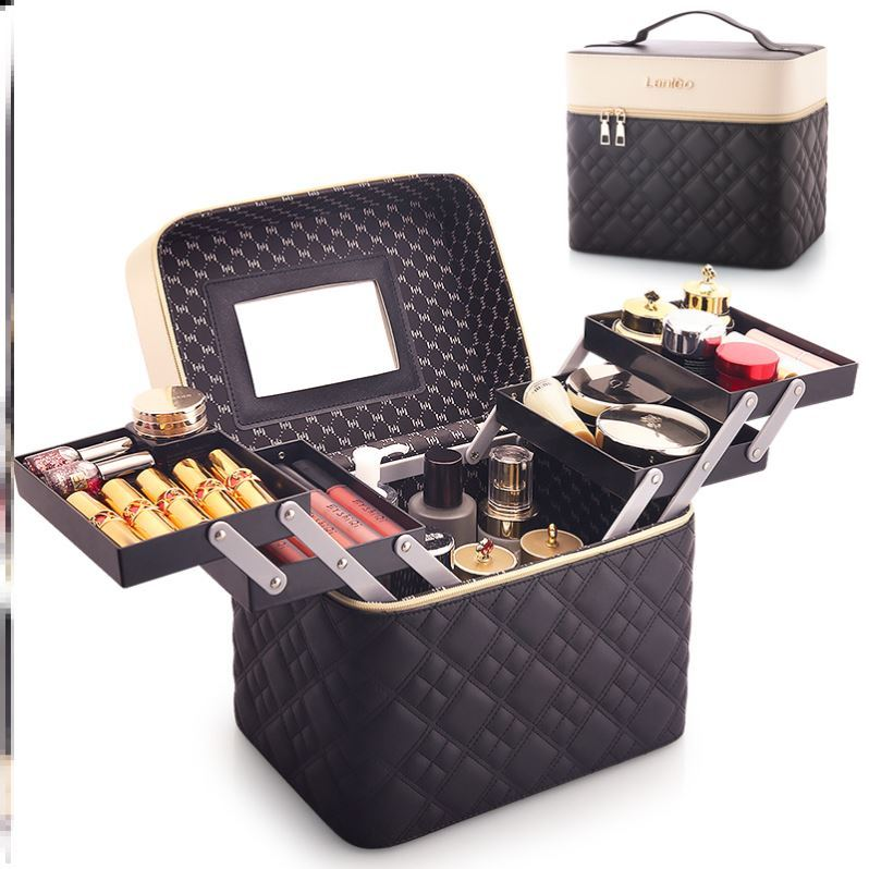 Expert sweet atmosphere portable womens large creative storage box style cosmetic bag womens portable small Korean home I