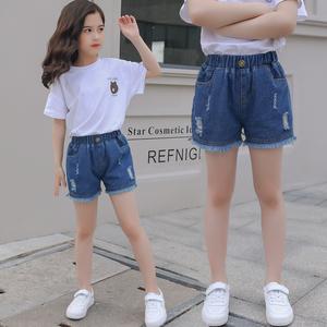 韩版宝宝牛仔短裤2020年夏季新款破洞中小童女童薄款洋气儿童外穿