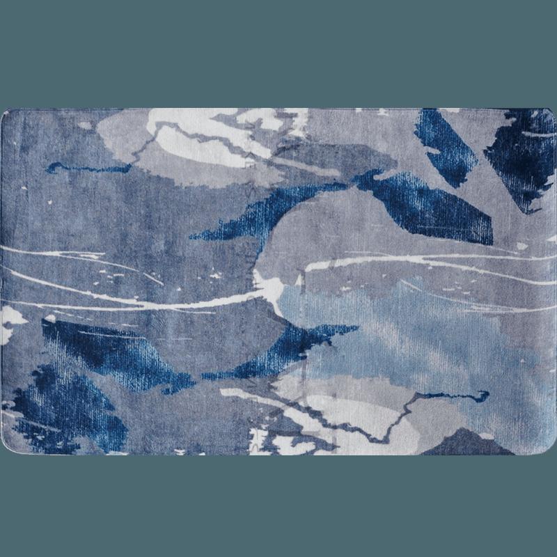 高档绣奈丝 北欧创意涂鸦花纹地毯 现代简约客厅茶几卧室长方形床