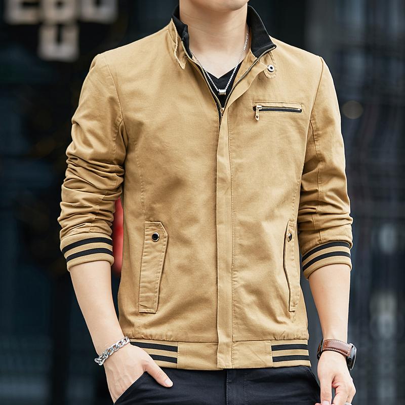 【细节工艺,点亮生活】新款秋季潮流时尚男士休闲工装夹克外套