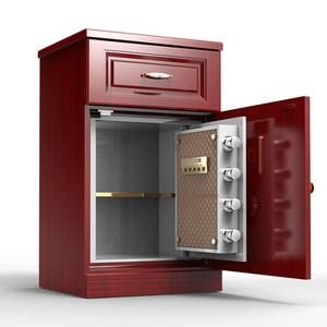 小型保險箱防盜監控指紋保險柜家用密碼wifi床頭柜隱形55cm保管箱