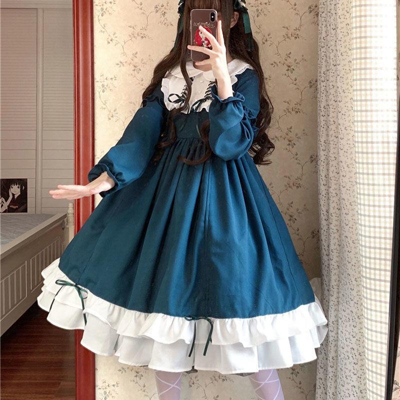 法式外套游乐园原创日系花嫁洛丽塔日常新款洋装软妹国风公主裙甜