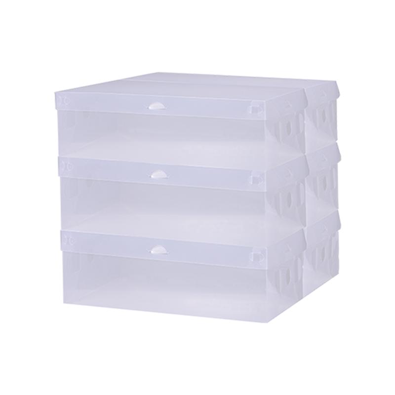 透明翻盖式鞋盒收纳盒塑料储物盒整理盒