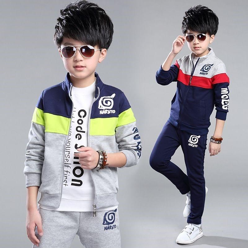 2020秋冬装新款童装男童套装秋冬装套装长袖二件套外套中大童男装