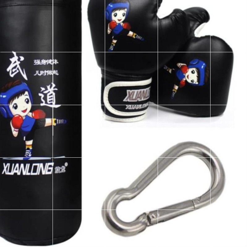 Solid childrens boxing gloves, taekwondo sandbag suit, training bag, trainer, resistance to fighting, martial arts, hanging bag hair