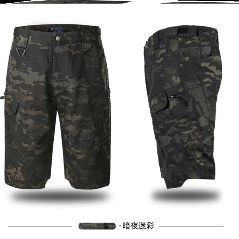 . Straight tooling shorts mens tactical loose mens casual sports Capris middle pants summer breeches