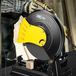 台式355A型材切割机大功率钢材砂轮锯多功能切角机家用小型台式