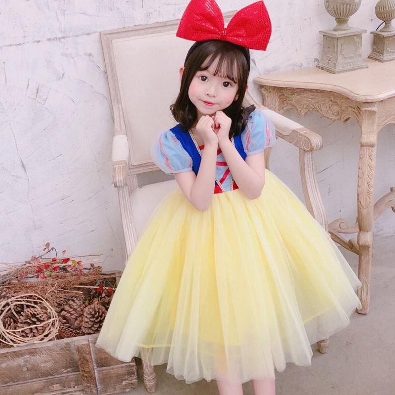 白雪公主裙子儿童蓬蓬纱礼服公主裙女童洋气洛丽塔连衣裙夏装生日