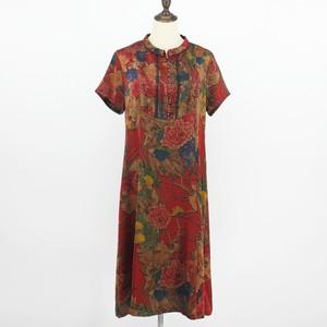 夏季中老年女装桑蚕丝妈妈连衣裙