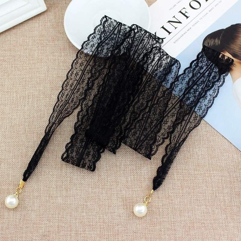 Chiffon rope childrens waist chain dress with skirt new decorative fabric national lace belt Ribbon Pearl
