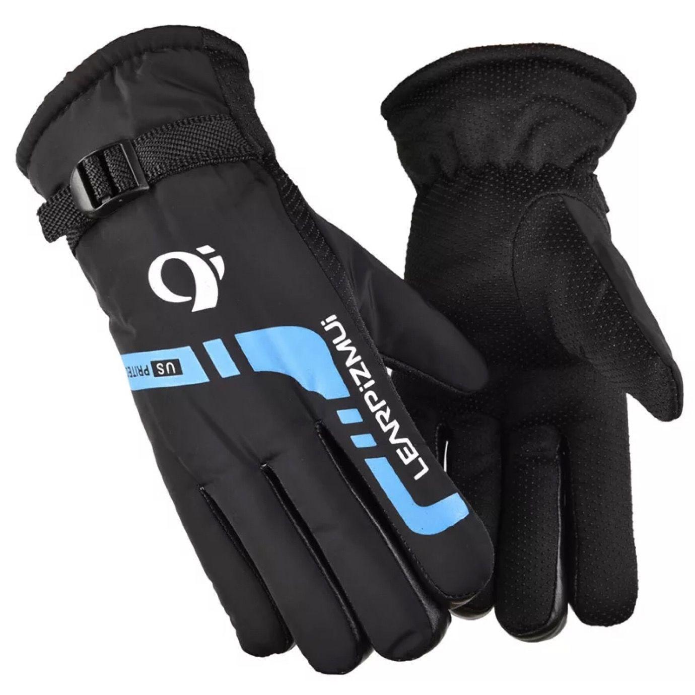 冬季加绒加厚保暖男士滑雪手套骑行防风寒棉手套摩托车手套