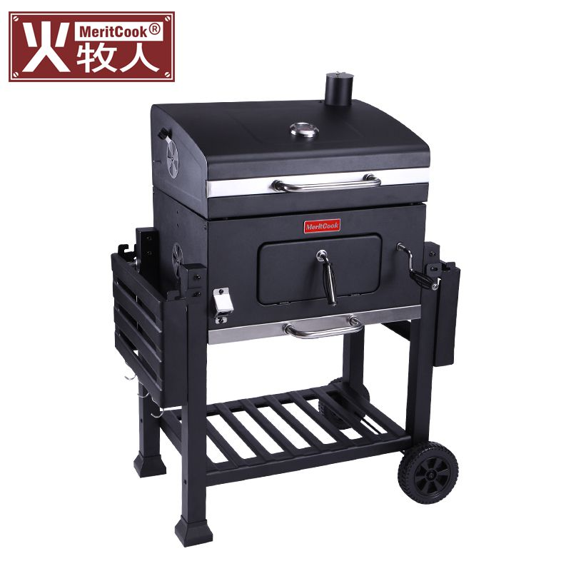 Fire shepherd barbecue grill home charcoal villa courtyard barbecue oven outdoor more than 5 large American local tyrant BBQ