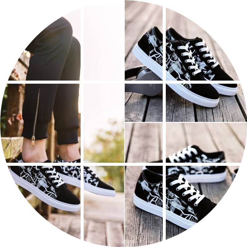 Fan blocking childrens shoes leisure trend summer pattern cloth raw mens summer low top shoes anti odor skateboard home school