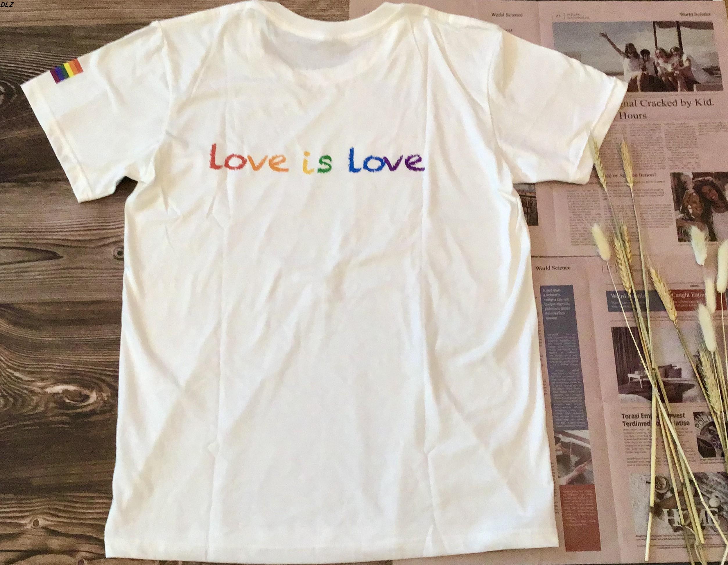 LGBTQ自慢レズビアンTシャツ純綿半袖自由オリジナルデザイン特別モデル