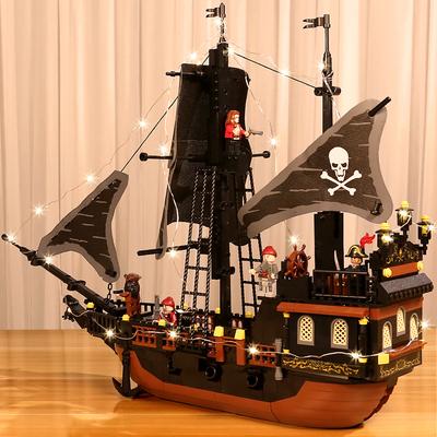 乐高积木男孩子海盗船儿童生日礼物6益智力动脑7拼装玩具10岁以上