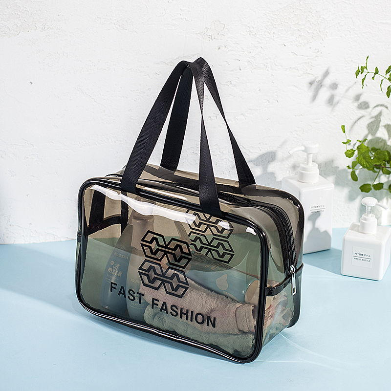 Net red cosmetic bag portable travel women waterproof transparent wash bag large skin care products storage bag zipper box