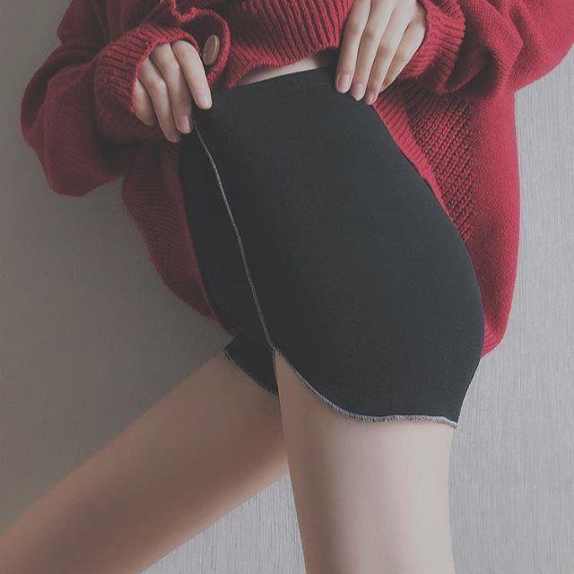 防走光不卷边安全裤平角薄款 韩版黑色流行弹力舒适内裤打底裤女