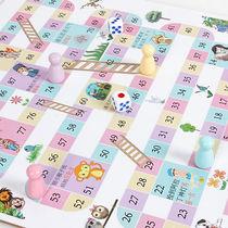 飞行棋探险棋儿童木制多功能合一游戏棋棋类益智玩具亲子桌面游戏