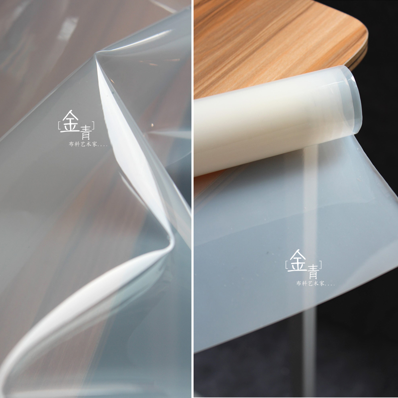Milk white liquid film magic color TPU raincoat clothing waterproof is better than PVC semi transparent design cloth