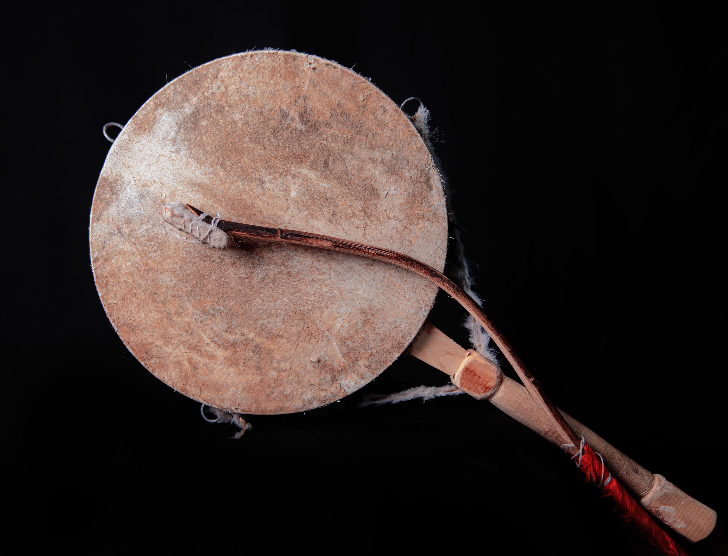 鼓西藏手鼓丁青热巴鼓做旧鼓纯手工艺品藏族纯羊皮鼓 舞蹈道具