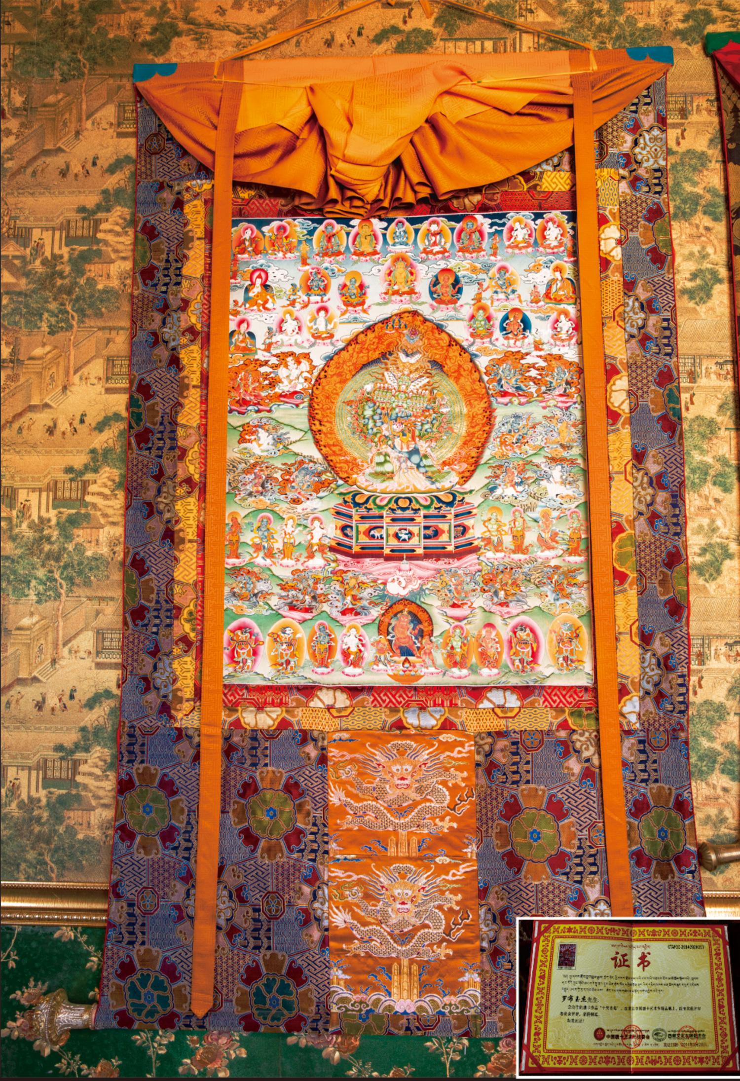 西藏琼布象雄唐卡纯手工绘画唐卡矿物颜料 支持来图定制!