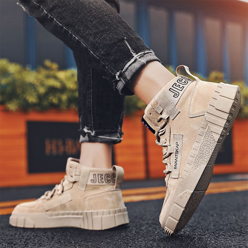 Martin boots mens summer 2020 new British high top mens shoes trend all kinds of work clothes Chelsea short boots masculine