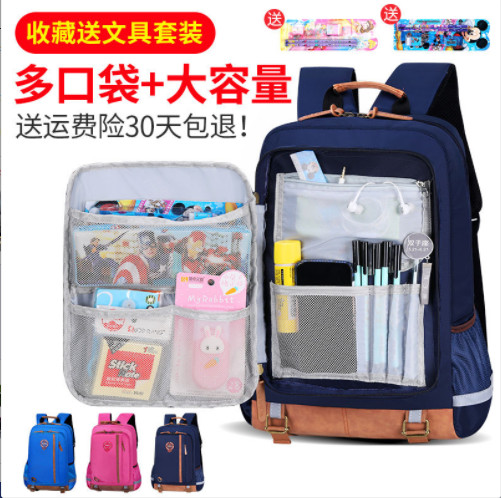 Schoolbag for primary school boys Grade 1-3 open case childrens schoolbag 6-12 years old boys and girls waterproof Backpack