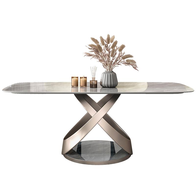 岩板餐桌现代简约轻奢高端吃饭桌子怎么样