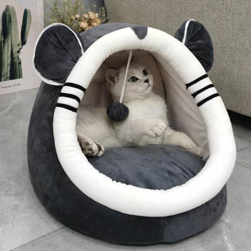 猫窝四季通用猫咪封闭式房子别墅冬季保暖可拆洗网红狗窝宠物用品