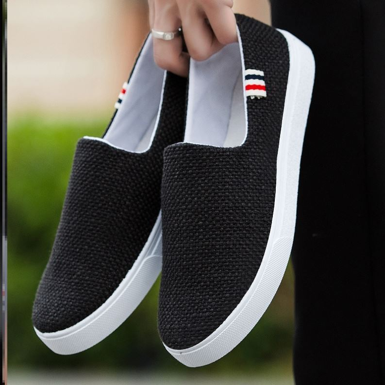 Summer breathable mens shoes, mesh shoes, sports casual shoes, canvas flat shoes, versatile socks, fashionable shoes