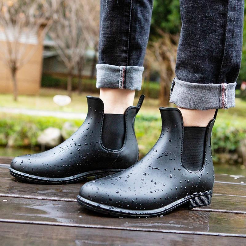 水鞋男防滑洗车雨鞋男成人防水鞋套鞋低帮马丁雨靴男厨房短筒水靴