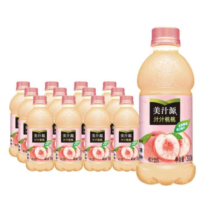美汁源 果味饮料汁汁桃桃 果粒橙 魔爪龙茶可口可乐公司出品 包邮