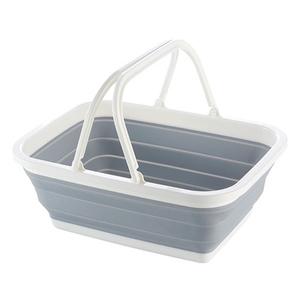 可折叠手提菜篮塑料家用便携式买菜购物环保户外野餐篮杂物收纳篮