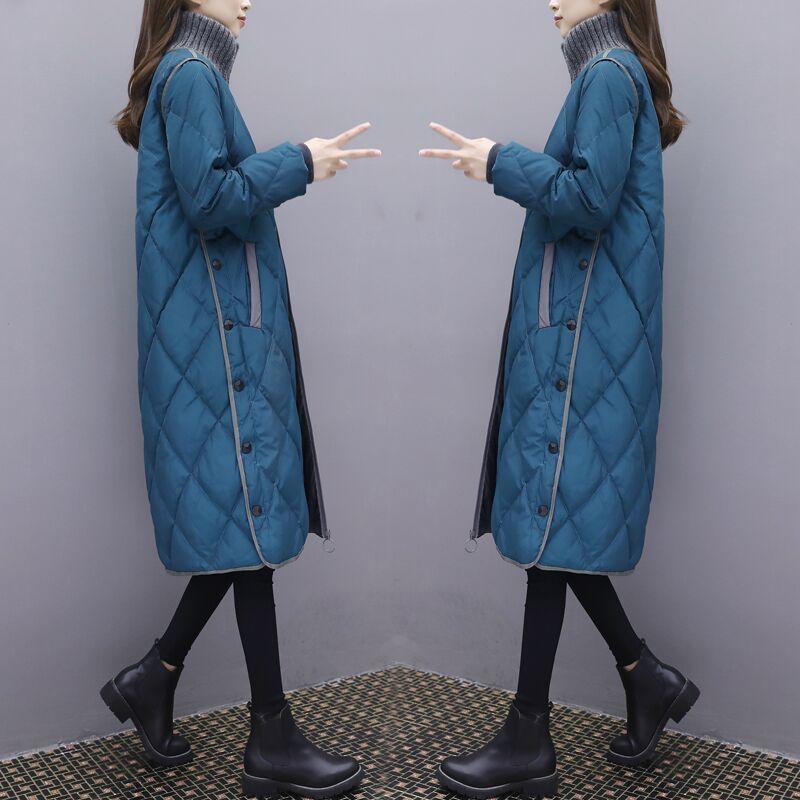 羽绒棉服女2020秋冬新款中长款韩版大码宽松加厚棉衣过膝棉袄外套